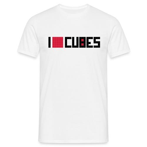 I Love Cubes - Männer T-Shirt