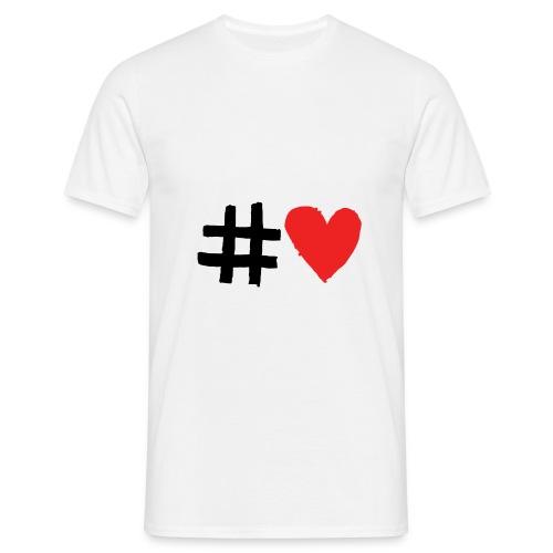 #Love - Herre-T-shirt
