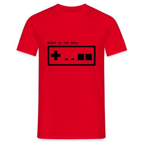 Born in the eighties - retro controller woman - Men's T-Shirt