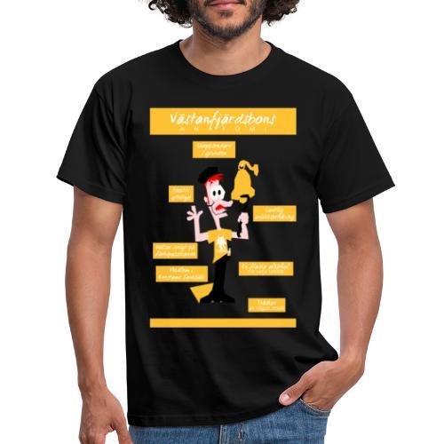 Västanfjärdsbons anatomi - Miesten t-paita