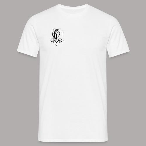 Zirkel, schwarz (vorne) - Männer T-Shirt