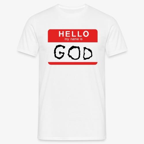 My name is GOD - T-shirt herr