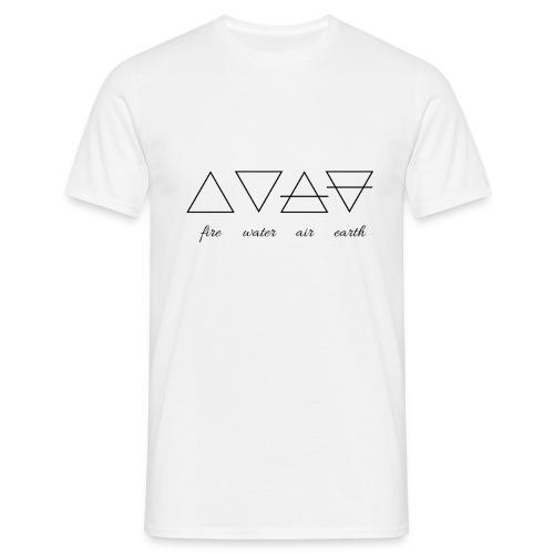 Vier Elemente. - Männer T-Shirt