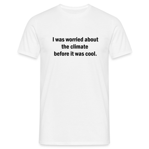 Worried about the climate MUSTA PRINTTI - Miesten t-paita