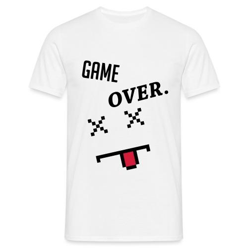Game Over Geek Smiley - Men's T-Shirt