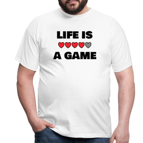 life is a game, black print - T-shirt herr