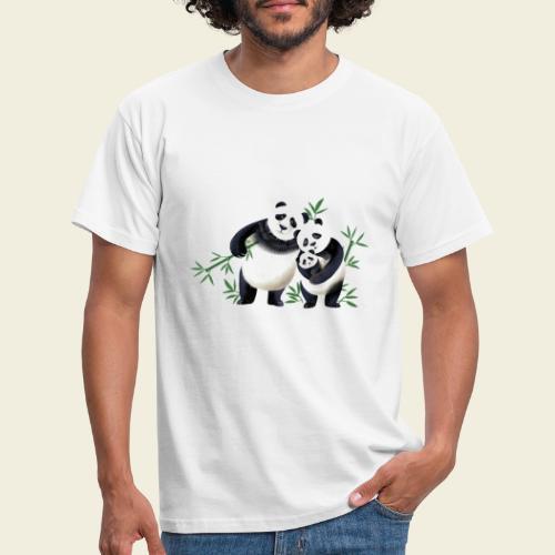 Pandafamilie Baby - Männer T-Shirt