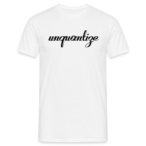 unquantize black logo - Men's T-Shirt