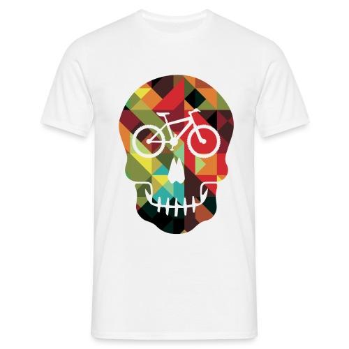Colored Skull of Biker - Maglietta da uomo