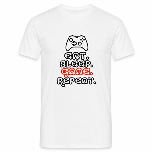 Eat. Sleep. Game. Repeat. - Männer T-Shirt