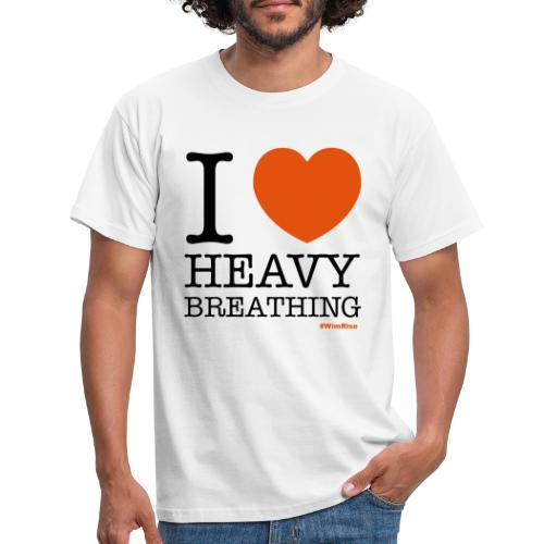 I ♥ Heavy Breathing - Men's T-Shirt