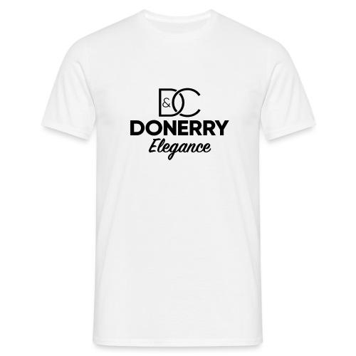 Donerry Elegance Black Logo on White - Men's T-Shirt