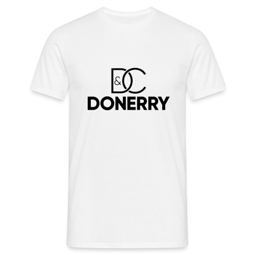DONERRY Black Logo on White - Men's T-Shirt