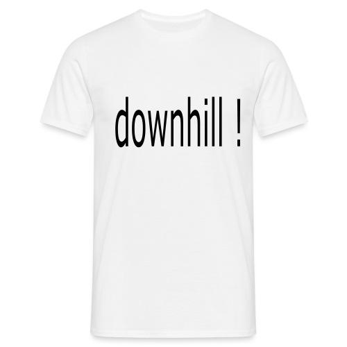 downhill schriftzug - Männer T-Shirt