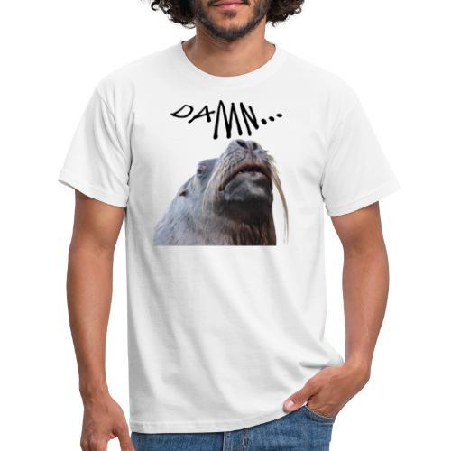 tier seelöwe robbe einhorn verdammt spass trend - Männer T-Shirt