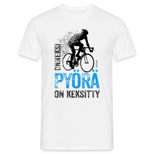 Onneksi pyörä on keksitty - Road bike b - Miesten t-paita
