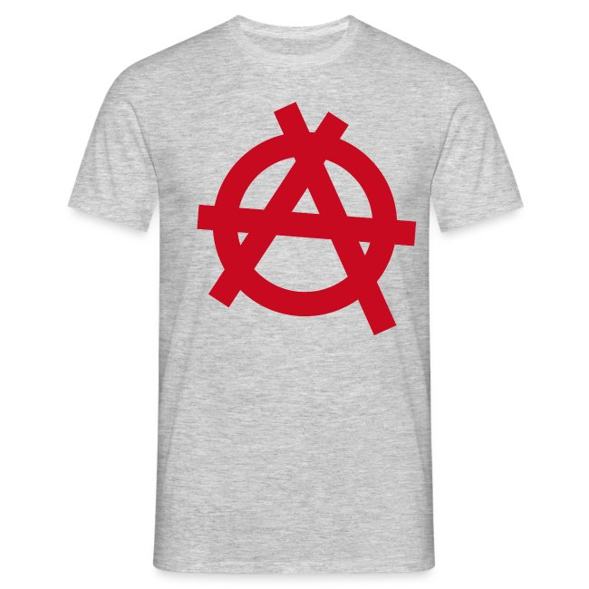 Anarchy symbol - red