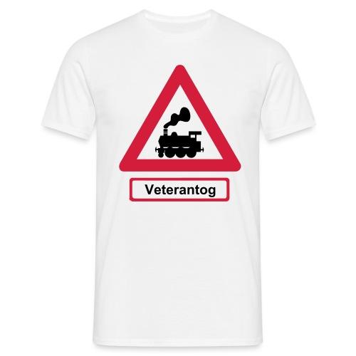Skilt Veterantog - Herre-T-shirt