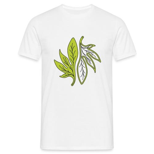 foglia verde palmata - Maglietta da uomo