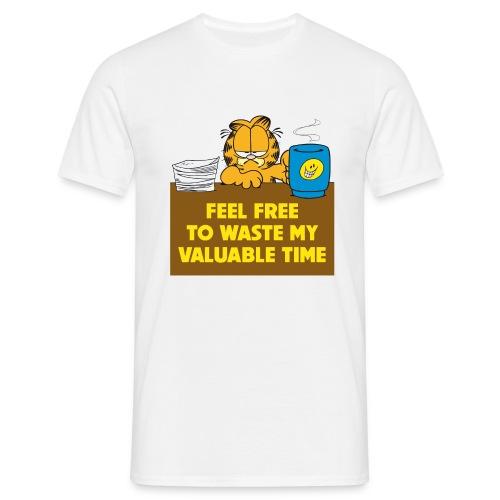 Garfield Valuable Time - Männer T-Shirt