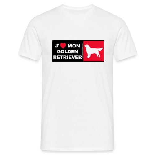 J aime mon Golden Retriever - T-shirt Homme