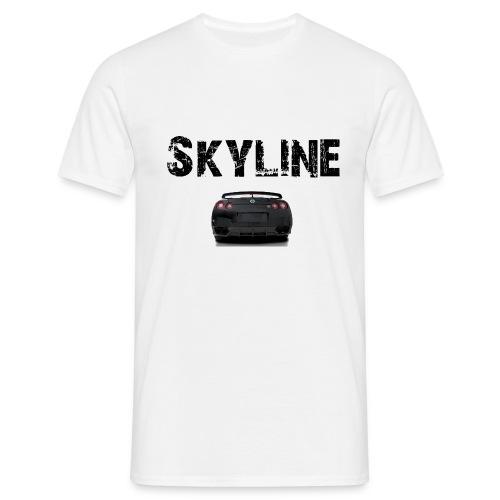 skyline - T-skjorte for menn