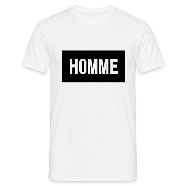 camiseta homme
