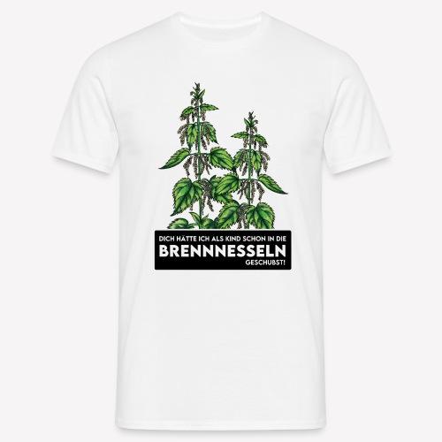 Brennnessel Schubsen - Männer T-Shirt
