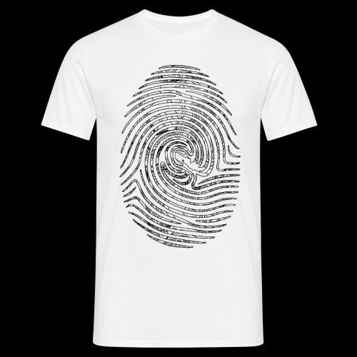 Tintenfisch Fingerabdruck schwarz - Männer T-Shirt