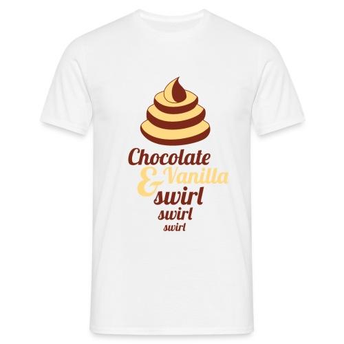 Chocolate and Vanilla Swirl - Men's T-Shirt