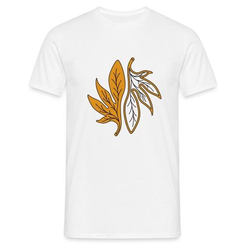 foglia arancione palmata - Maglietta da uomo