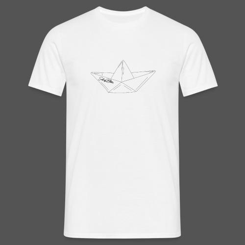 Papierboot Sailing Benko Papierschiff Faltboot - Männer T-Shirt