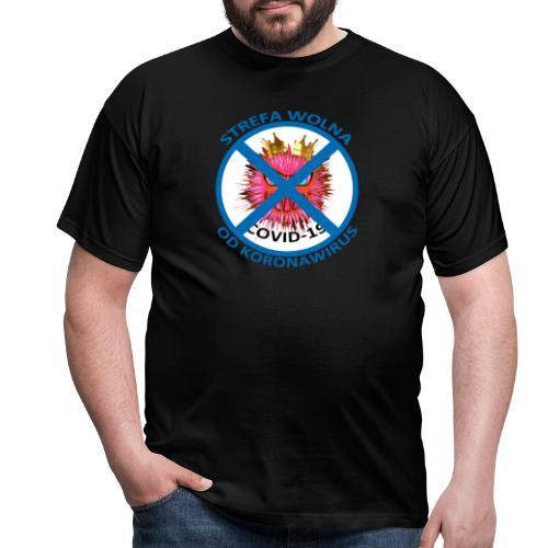 Strefa wolna od Koronawirus - Koszulka anty COVID - Koszulka męska
