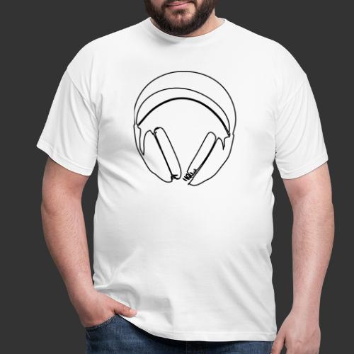 Casque podradio filigranne vectorisé - T-shirt Homme