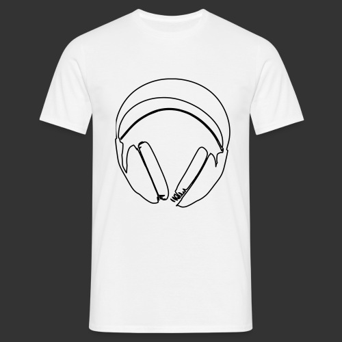 Casque podradio filigranne vectorisé - T-shirt Homme