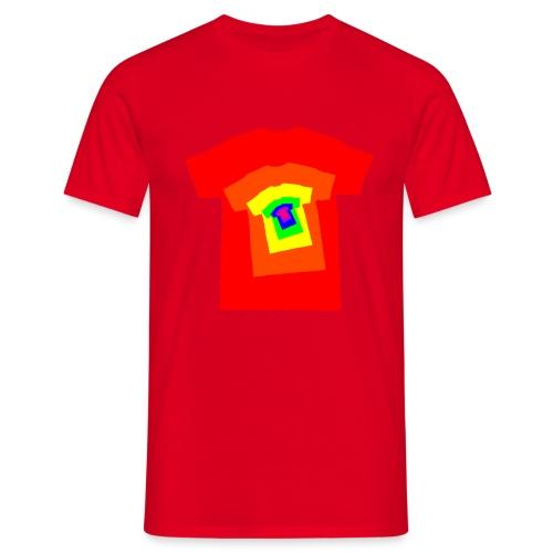 Rainbow T Shirt Spiral - Men's T-Shirt