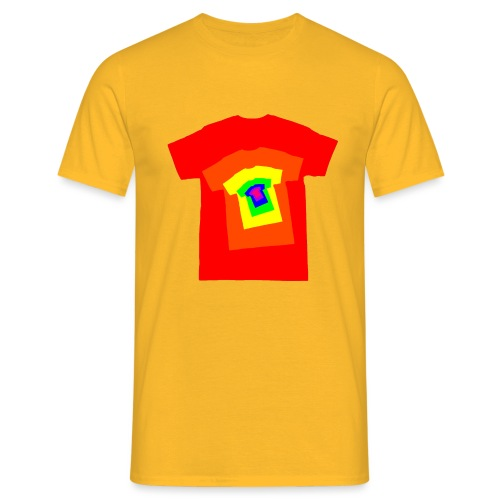 Rainbow T Shirt Spiral - Men's T-Shirt