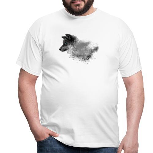 Blaue Wolfs-Augen - Männer T-Shirt
