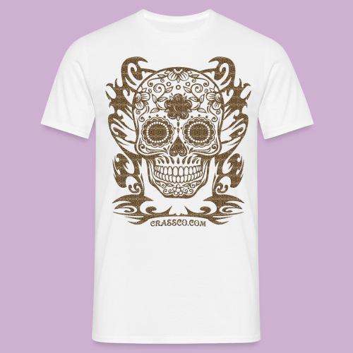 SKULL FLOWERS LEO - Männer T-Shirt