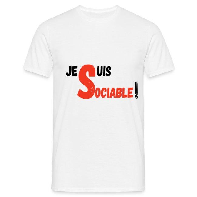 T-shirt pour homme je suis sociable
