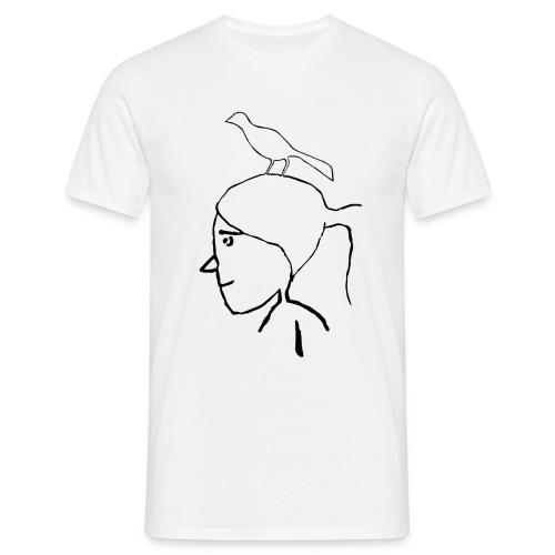 pajaro en cabeza - Camiseta hombre