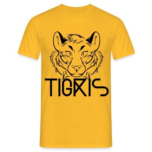 Tigris Logo Picture Text Black - Men's T-Shirt