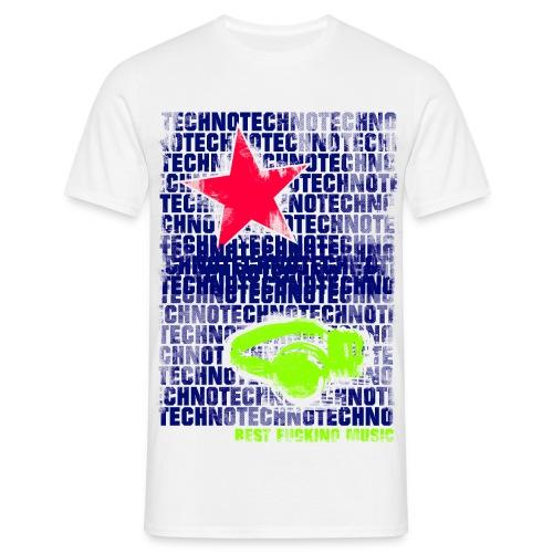 techno stern 1 - Männer T-Shirt