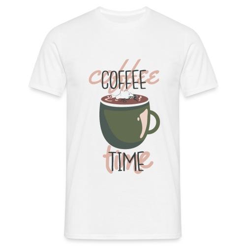 It's coffee time - Zeit für Kaffee - Männer T-Shirt