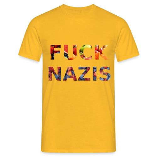Fuck Nazis with Fruits - Männer T-Shirt