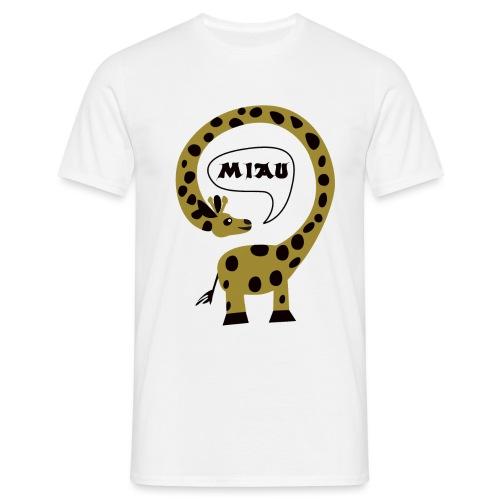 Miau ich bin eine Giraffe - Männer T-Shirt
