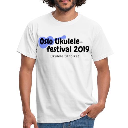 Oslo Ukulelefestival 2019 i svart - T-skjorte for menn