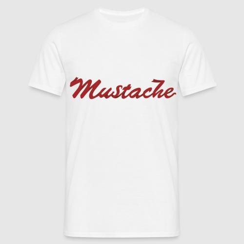 Red Mustache Lettering - Men's T-Shirt