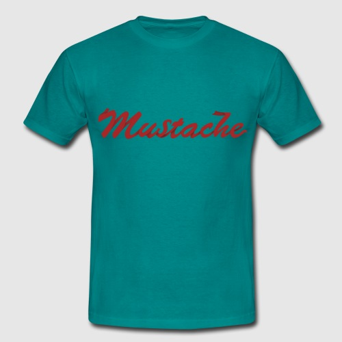 Red Mustache Lettering - Men's T-Shirt