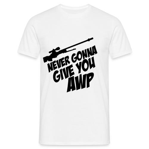 17970 2CNeverGonnaAWP - Men's T-Shirt
